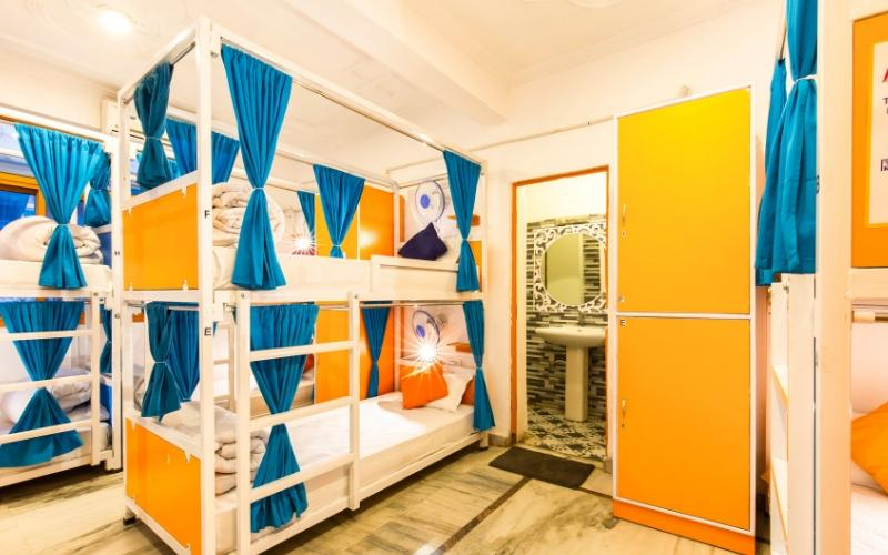 Bed In 6 Bed AC Female Dormitory Room with En-suite Bathroom