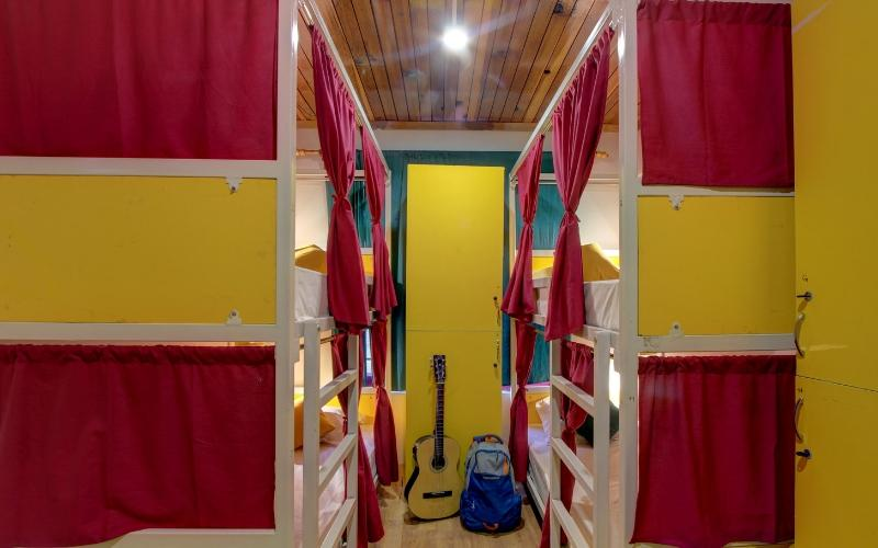 Bed In 4 Bed Mixed Dormitory Room with Shared Bathroom