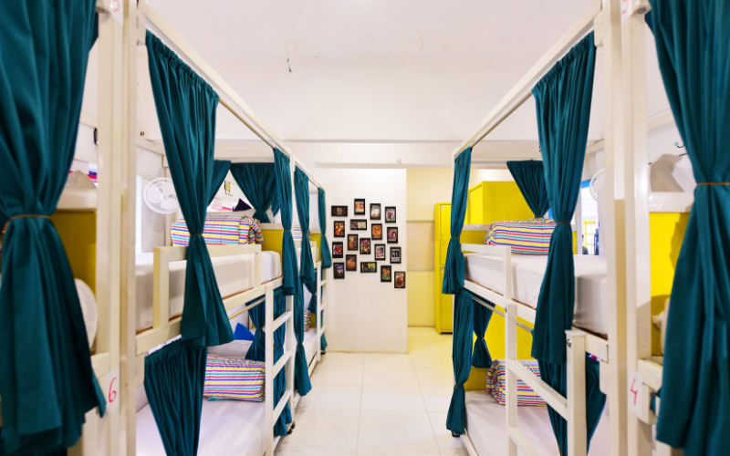 Bed in 8 Bed Mixed Dormitory Room with Shared Bathroom