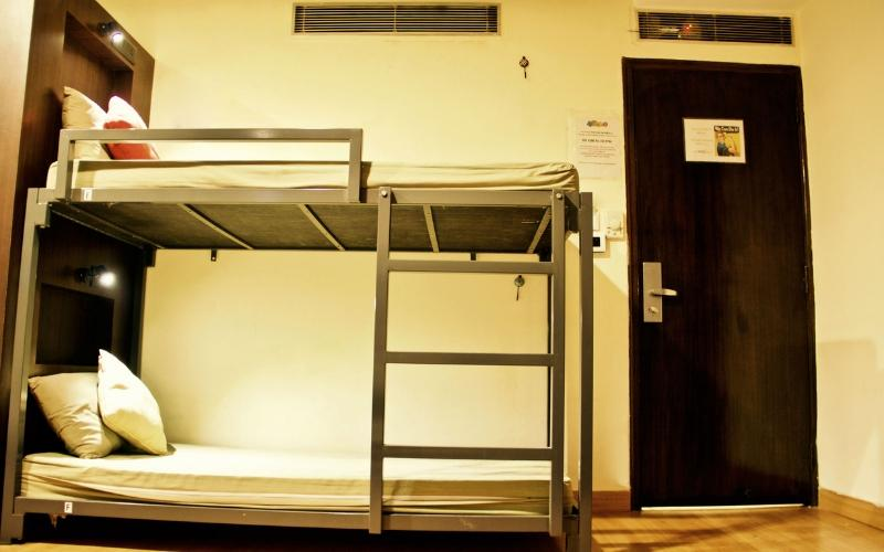 Bed in 4 Bed AC Female Dormitory Room with En-suite Bathroom